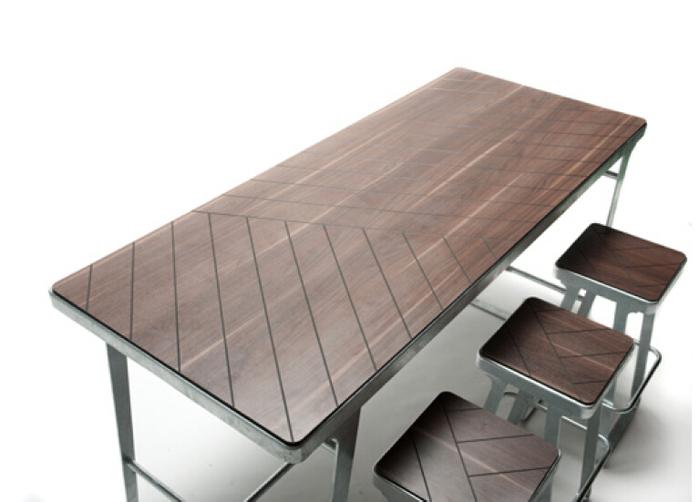 设计师新品 ?新款1桌6椅